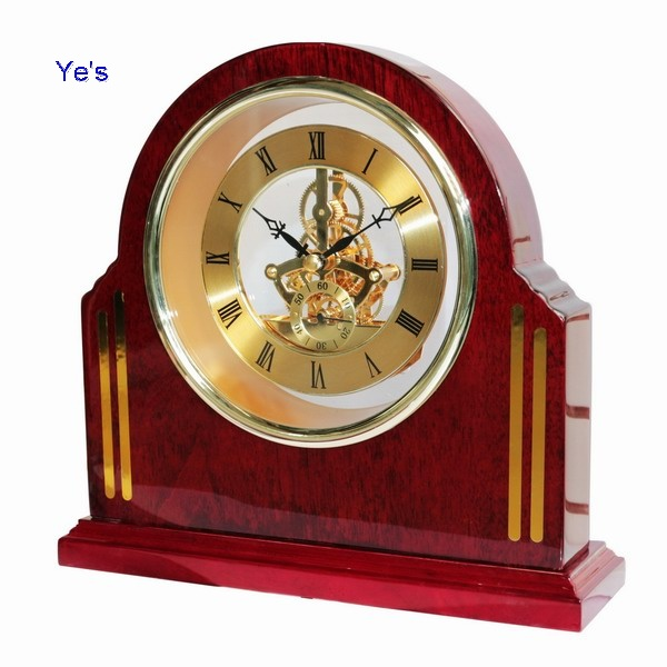 Wooden Skeleton Clock