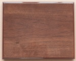 Walnut double sides piano finish plaque