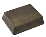 walnut finish wooden gift box